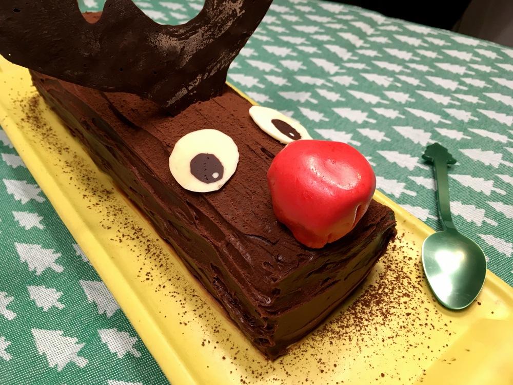 Bûche de Noël Rudolf Caramel beurre salé Chocolat