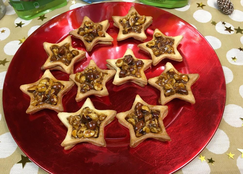 Tartelettes étoilées aux fruits secs et caramel beurre salé