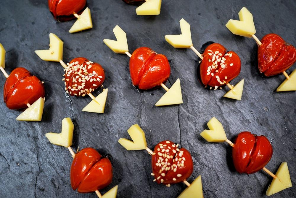 Tomates d'Amour apéritives pour la Saint-Valentin