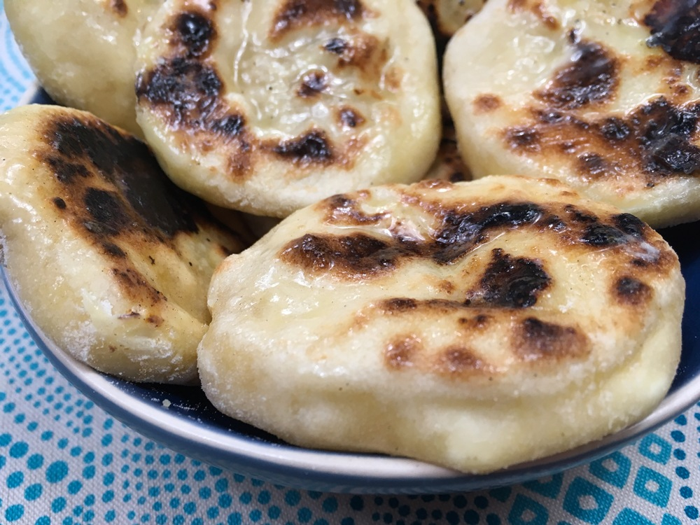 Mini naans fromage