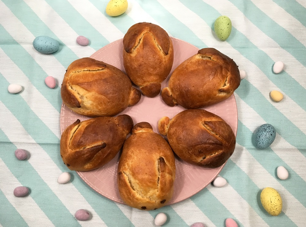Brioches lapins de Pâques