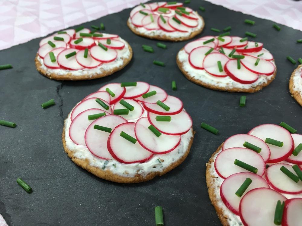 Tartelette Radis - Fromage frais