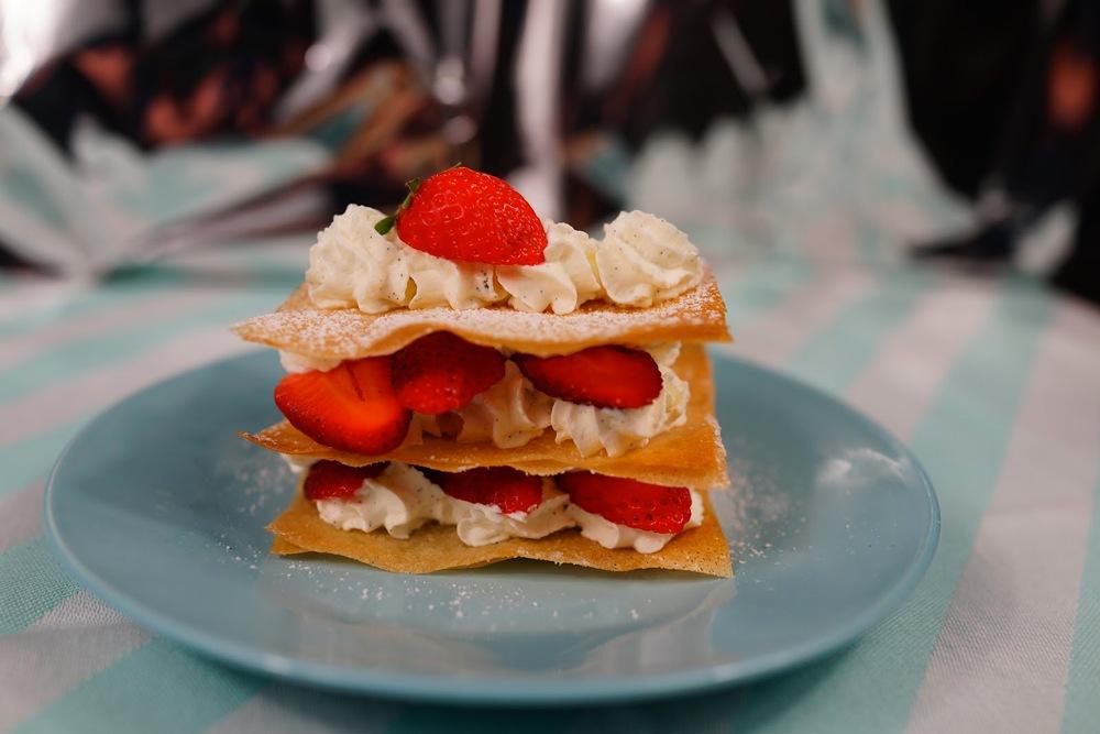 Mille-feuilles minutes fraises - mascarpone