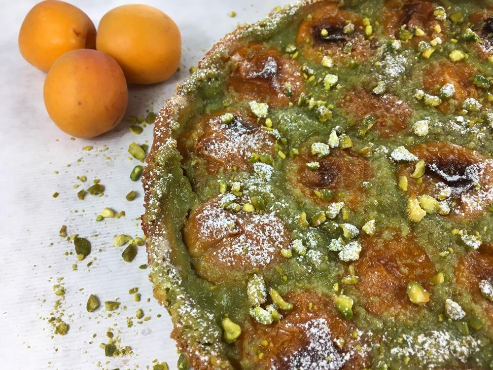 Tarte pistaches - abricots