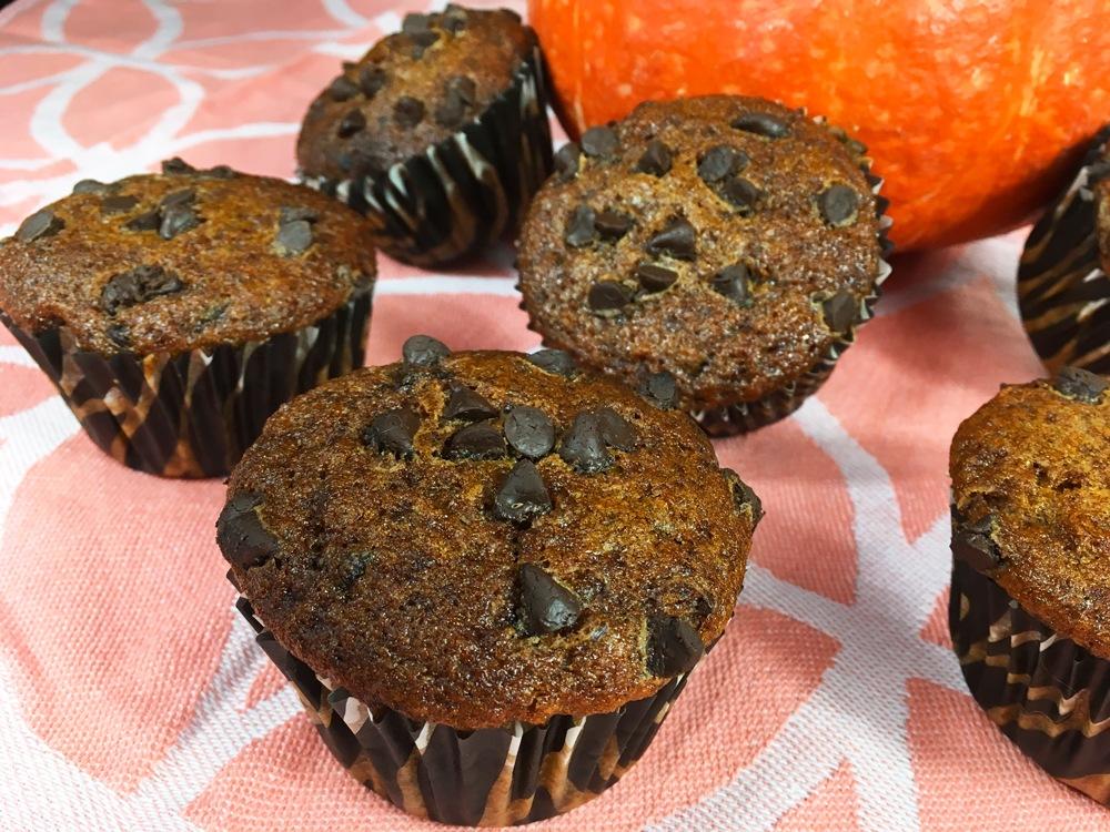 Muffins potiron - chocolat